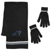 Carolina Panthers Chenille Scarf & Glove Set
