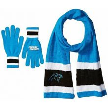 Carolina Panthers Cold Weather Knit Scarf and Glove Set