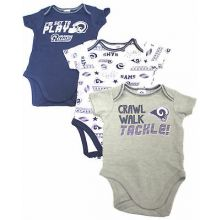 Los Angeles Rams 2018 Infant 3 Piece Bodysuit Set