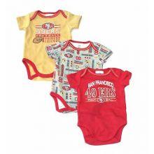 San Francisco 49ers 2015 Boys 3 Piece Bodysuit Set