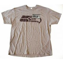 NFL Officially Licensed Seattle Seahawks Gray Shadow Logo T-Shirt (Medium)