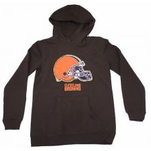 Cleveland Browns Youth Reflective Gold Trim Hoodie