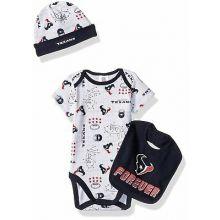 "Houston Texans  Infant ""Forever"" Texans Bodysuit, Bib and Cap Set"