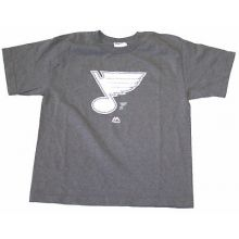 St. Louis Blues Gray Glow in the Dark Youth T-Shirt
