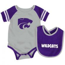 Kansas State Wildcats Colosseum Infant Bib and Bodysuit Set