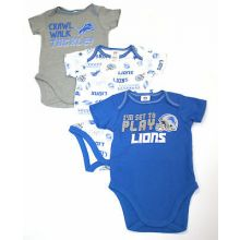 Detroit Lions 3 Piece Bodysuit Set