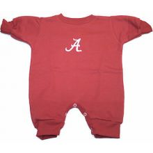 Alabama Crimson Tide Infant Long Sleeve Fleece Romper Bodysuit