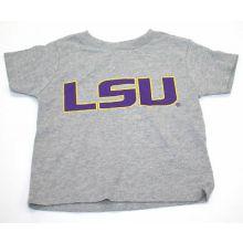 LSU Tigers Child Gray Logo T-Shirt