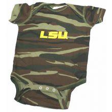 LSU Tigers Camo Embroidered Logo Bodysuit