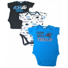 Carolina Panthers 3 Piece Bodysuit Set