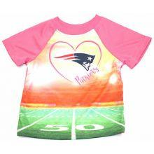 New England Patriots Infant Girls Stadium T-Shirt