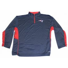 New England Patriots Mens Embroidered Quarter Zip Pullover
