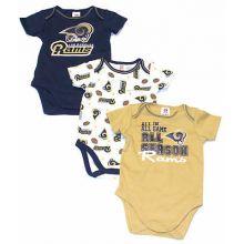 Los Angeles Rams Infant 3 Piece Bodysuit Set