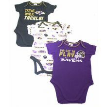 Baltimore Ravens 2018 3 Piece Bodysuit Set