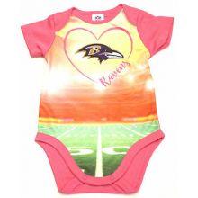 Baltimore Ravens Girls Infant Field Bodysuit