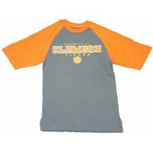 """NCAA Officially Licensed Clemson Tigers Gray/Orange """"Property Of"""" T-Shirt (Small"""