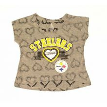 NFL Licensed Pittsburgh Steelers Girls Jeweled Cap Sleeve Shirt
