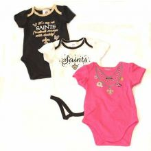 New Orleans Saints 2015 Girls 3 Piece Bodysuit Set
