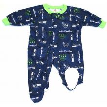 Seattle Seahawks 2018 Infant Footed Blanket Sleeper