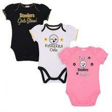 Pittsburgh Steelers 2018 Girls 3 pk. Bodysuits