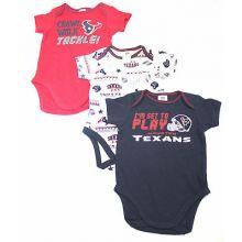 Houston Texans 3 Piece Bodysuit Set