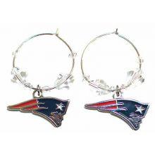 New England Patriots Beaded Hoop Earrings