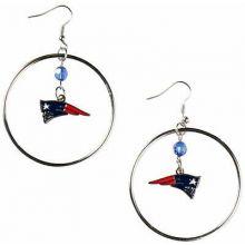 New England Patriots Hoop Earrings
