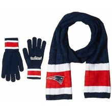 New England Patriots Cold Weather Knit Scarf and Glove Set