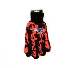 New England Patriots Team Color Camo Utility Gloves