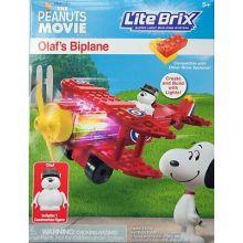 The Peanuts Movie Lite Brix Olafs Biplane