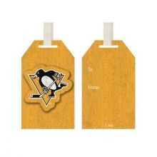 Pittsburgh Penguins Wooden Gift Tag Ornament