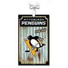 Pittsburgh Penguins Corrugated Metal Sign Ornament
