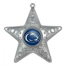 """Penn State Nittany Lions 4"""" Silver Star Ornament"""