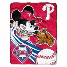 Philadelphia Phillies Plush Mickey Mouse Throw Blanket