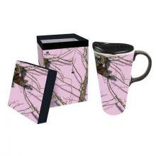 Mossy Oak Pink Camo 17 oz  Ceramic Coffee Mug with Gift Box