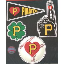 Pittsburgh Pirates 4 Piece Magnet Set