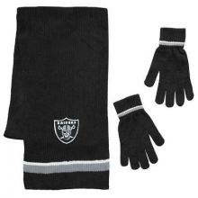 Raiders Chenille Scarf & Glove Set