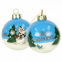 Oakland Raiders Hand Painted Ball Ornament