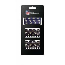 Los Angeles Rams Hair Accessory 2-Hair Clips and 3-Elastic Ponytail Bands