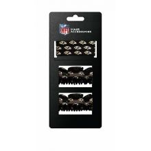 Baltimore Ravens Hair Accessory 2-Hair Clips and 3-Elastic Ponytail Bands