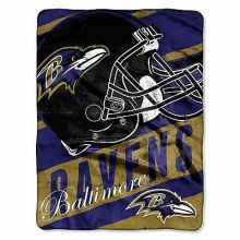 "Baltimore Ravens 46"" x 60"" Deep Slant Super Plush Throw Blanket"