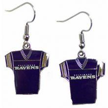 Baltimore Ravens Jersey Style Dangle Earrings