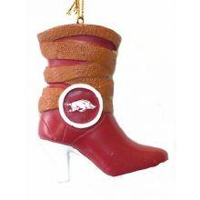 Arkansas Razorbacks Team Boot Ornament