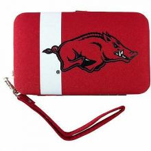 Arkansas Razorbacks Distressed Wallet Wristlet