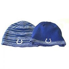 NFL Licensed Indianapolis Colts Onfield Striped Reversible Knit Beanie Hat Cap L