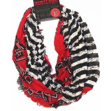Texas Tech Red Raiders Striped 2 Tone Infinity Scarf