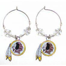 Washington Redskins Beaded Hoop Earrings