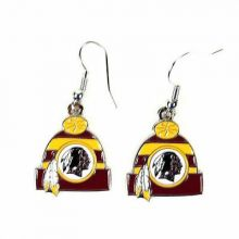 Washington Redskins Beanie Style Dangle Earrings