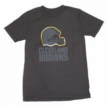 NFL Officially Licensed Cleveland Browns Reflective Gold Outline Logo Black Yout