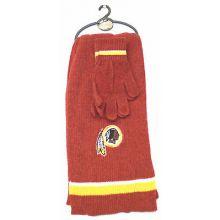 Washington Redskins Chenille Scarf & Glove Set